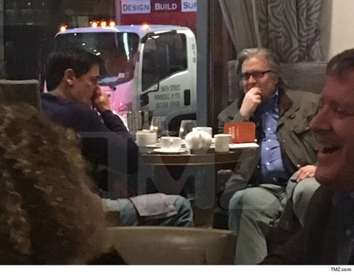 "Steven Bannon, ""Hehehe. Alright you need to #bendtheknee and we promise not to take away your toys during the anti-trust lawsuits."" Cuck Mark Cuban, ""But but!"" Steve, ""I get more pageviews on Breitbart in 1 day than your life gets in a year."" Mark, ""Oh! Alright! God!"""